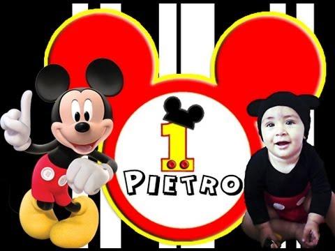 1 ANO DO PIETRO TEMA: MICKEY MOUSE YouTube