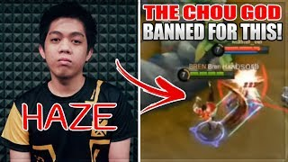 THIS IS WHY HAZE WAS BANNED AND SHUT DOWN IN MOBILE LEGENDS