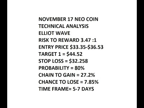 NEO November 17 Technical Analysis Long Entry $33.35 TO $36.84, Target $44.52