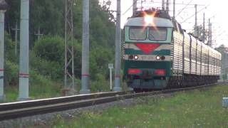 Электровоз ЧС7-279 со скорым поездом.(, 2016-08-04T15:42:39.000Z)