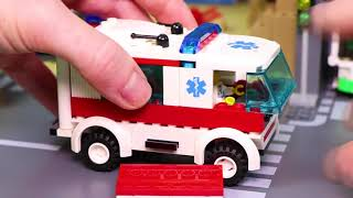 Train, Crane, Fire Truck, Ambulance, Tractor & Police Cars LEGO Toy Vehicles for Kids