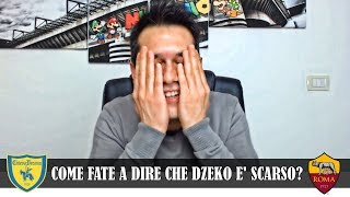 """""""SE DZEKO E' SCARSO, ICARDI COS'È? SCHICK TRA I MIGLIORI"""" Chievo-Roma 0-3 (tifoso inter)"""
