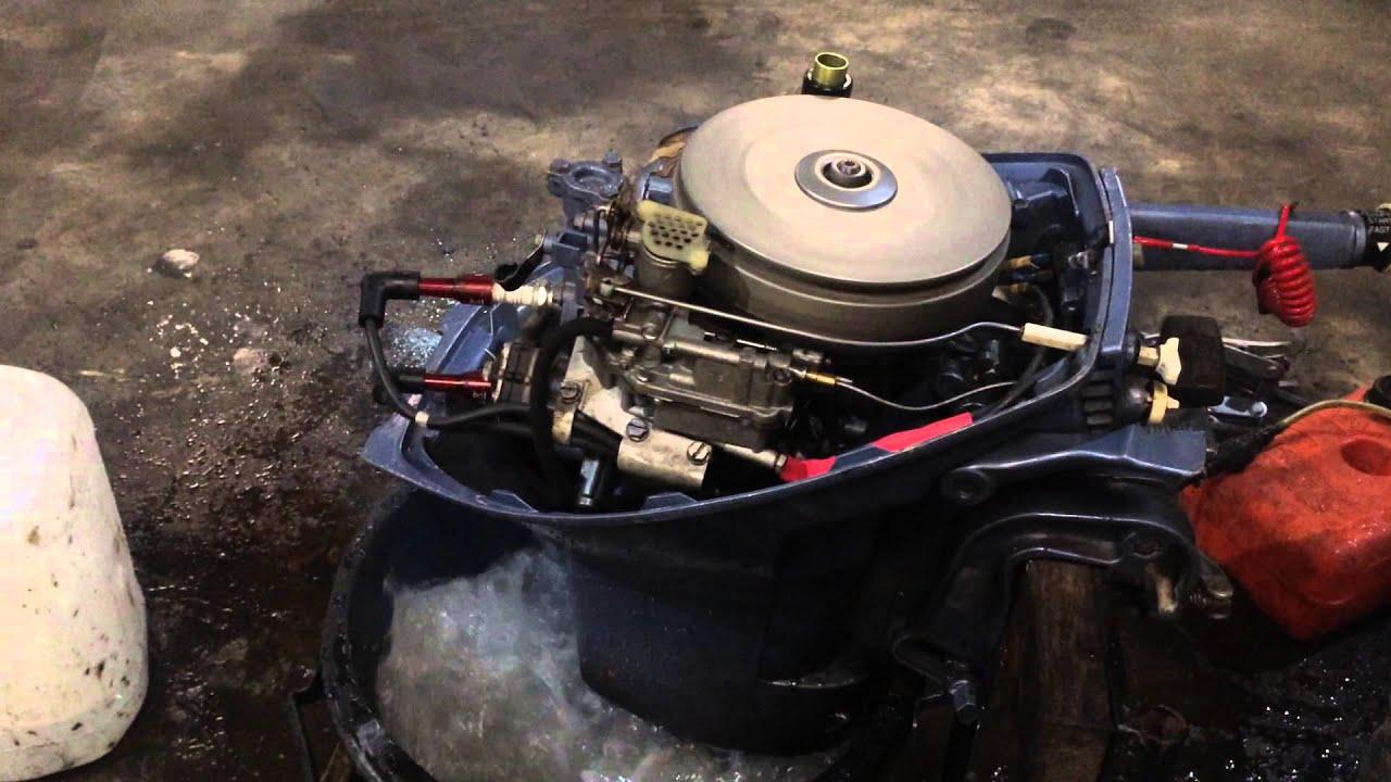 Evinrude 9 5 Sportwin Before Carburettor Tune Up