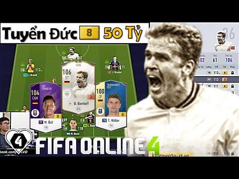 """FIFA Online 4   Trải Nghiệm Đội Hình """" TUYỂN ĐỨC +8 50 TỶ """" Xuất Sắc Vs Mũi Nhọn O. Bierhoff ICON"""