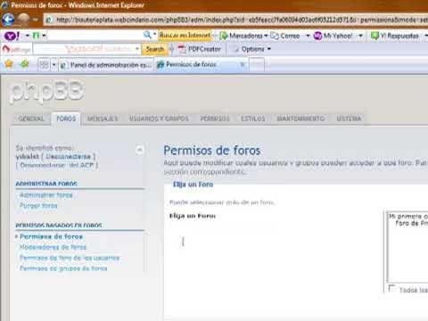 Instalar un foro en español phpbb 3 0 5 parte  2