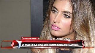 Florencia Cocucci, la modelo que viajó a Cancún con Nisman, habló en Telenoche