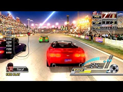 SEGA Race TV (2008) ALL Courses Playthrough (60 FPS) SEGA Lindbergh ARCADE  Hardware / iPlaySEGA