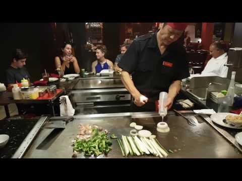 teppanyaki show!!  Fuji Japanese Steakhouse & Sushi -  dinner for 8 people