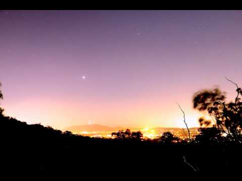 Star time lapse, looking over Canberra, from Mt Ainslie to Black Mountain, 10 December 2016