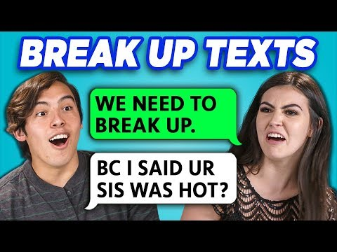Teens Read 10 Breakup Texts #2 (React)