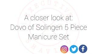Dovo of Solingen 5 Piece Manicure Set in Soft Leather Case screenshot 1