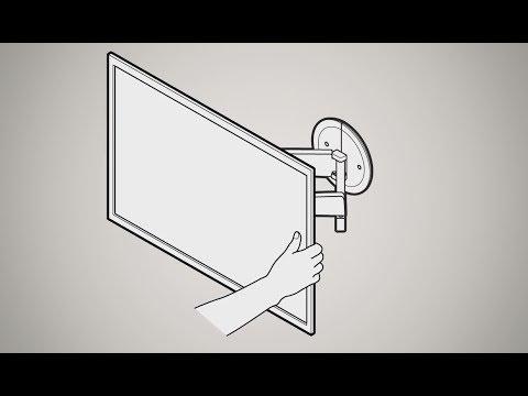 Vogels Next 8375 Montage Elektrisch Schwenkbare Tv Wandhalterung