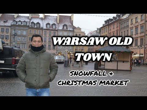 हिन्दी | VLOG 4 | WARSAW OLD TOWN ,SNOWFALL & CHRISTMAS MARK
