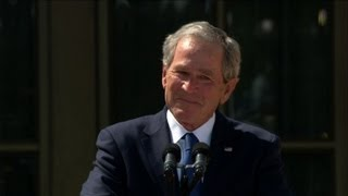 Ex-presidents at opening of George W. Bush library