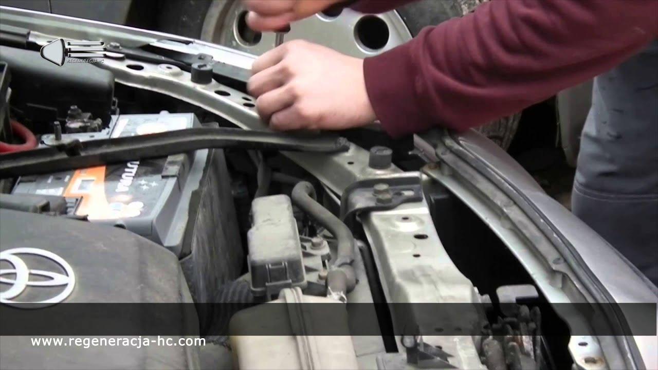 Jak Wymontować Reflektor Toyota Avensis Regeneracja Reflektorów Demontaż Lamp