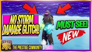 NO STORM DAMAGE GLITCH! *NEW* Fortnite ''INVINCIBILITY Glitch'' Walk On Air God Mode Glitch 5.30