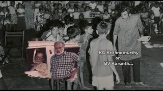 BVK Online Archives 27 -  KG Krishnamurthy on BV Karanth_Kannada