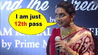 Shocking!! deepika padukone reveals that she is just 12th pass
