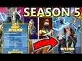 NEW Fortnite Season 5 Battle Pass MAX 100 TIERS Showcase SHOULD YOU BUY?