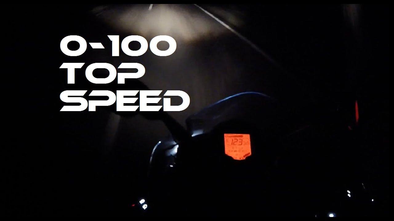 ktm rc 125 0-100 top speed - youtube