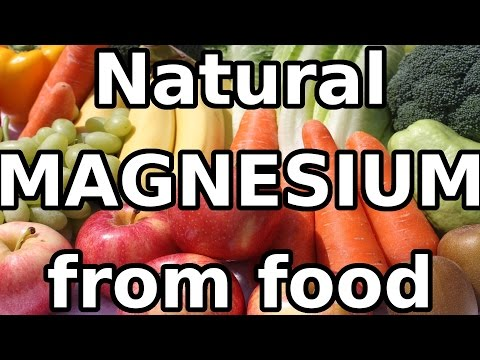 Natural MAGNESIUM (Mg) mineral from food