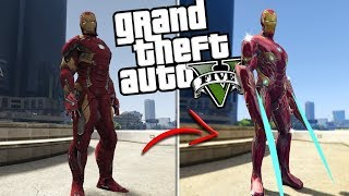 The NEW Iron Man MOD w/ NEW Powers & Abilities (GTA 5 PC Mods Gameplay)