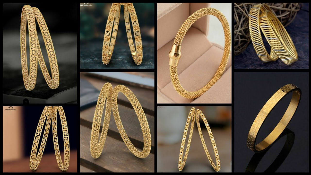 60 Adorable and Classy new 22k Solid Gold Bangles Designs 2020-21