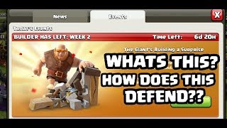 GIANT SURPRISE CLASH OF CLANS - HOW DOES IT WORK - 2 ARC VS GIANT SURPRISE