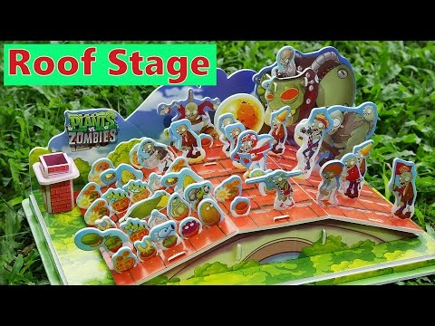 Part 4 - Let's Build DIY Plants VS Zombies PVZ Final Roof Stage Dr Zomboss Gargantuar Cob Cannon