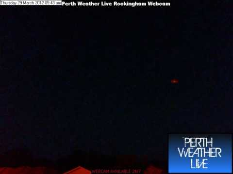 Perth Weather Live Webcam Time Lapse 29th March 2012
