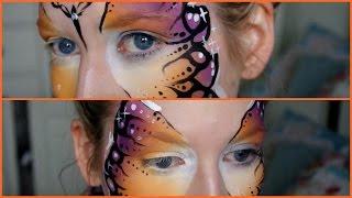 How to do a butterfly facepaint Tutorial   Jessica Davis