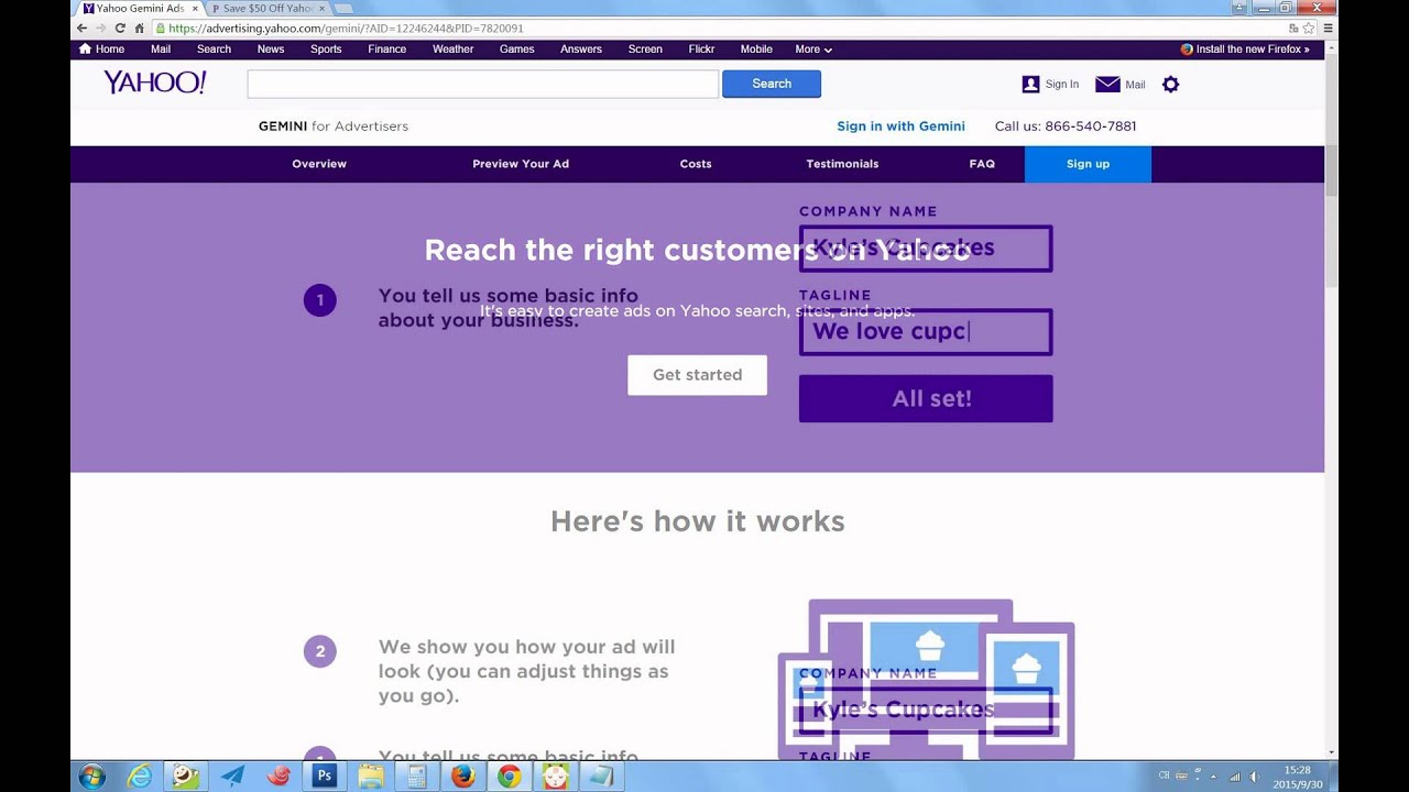 A linked Yahoo Web Hosting coupon does not have an actual coupon code to activate the promotion, but instead a special link. When you click the link to the online store at replieslieu.ml, you will get the discount automatically when you check out.