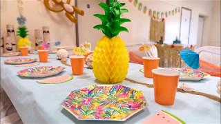 Moana / Hawaii Party Table Timelapse