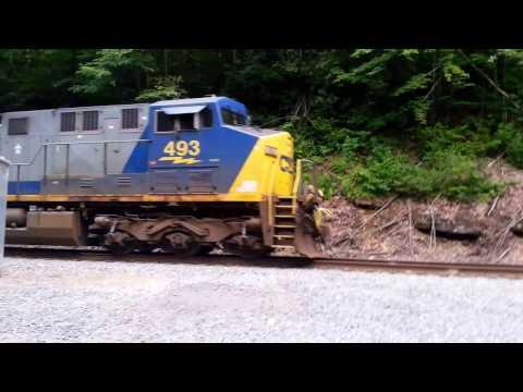 RJ Corman freight headed away from Thurmond WV