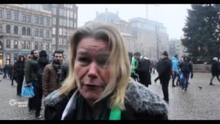 مظاهرات تجوب شوارع امستردام  نصرة للمدن السورية