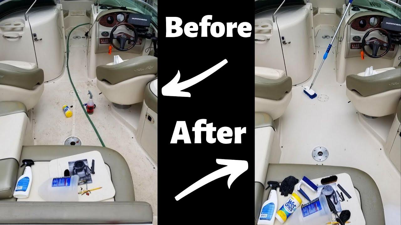 how to clean a fiberglass boat
