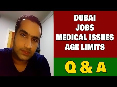 Dubai Jobs Medical Issues For Indian & Pakistani
