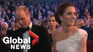 Prince William, Kate Middleton join stars for BAFTA Awards
