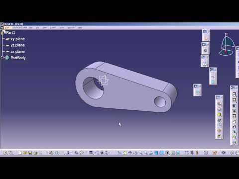 2.Drawing Sketch of a Solid Model in CATIA V5 using By-Tangent,Quick Trim tools.