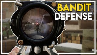 THE WALKING DEAD GAME! - BASE DEFENSE AGAINST BANDITS! (Overkill's The Walking Dead Gameplay Part 3)
