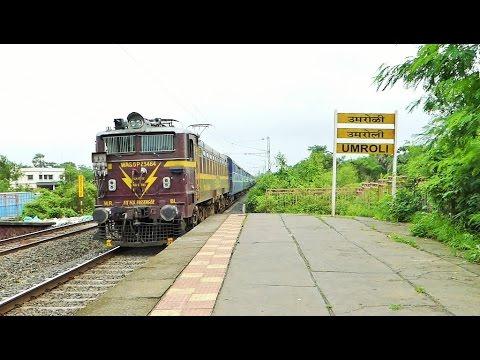 Back to Back trains belting through Umroli - 31 in 1 Compilation [HD]