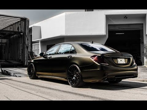 Mercedes Benz S63 AMG l Wrapped Satin Black Gold Dust | Exotic Car Trader