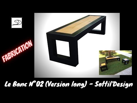 """Fabrication banc métal et bois Modèle N°2 (long) """"Sottil'Design"""""""