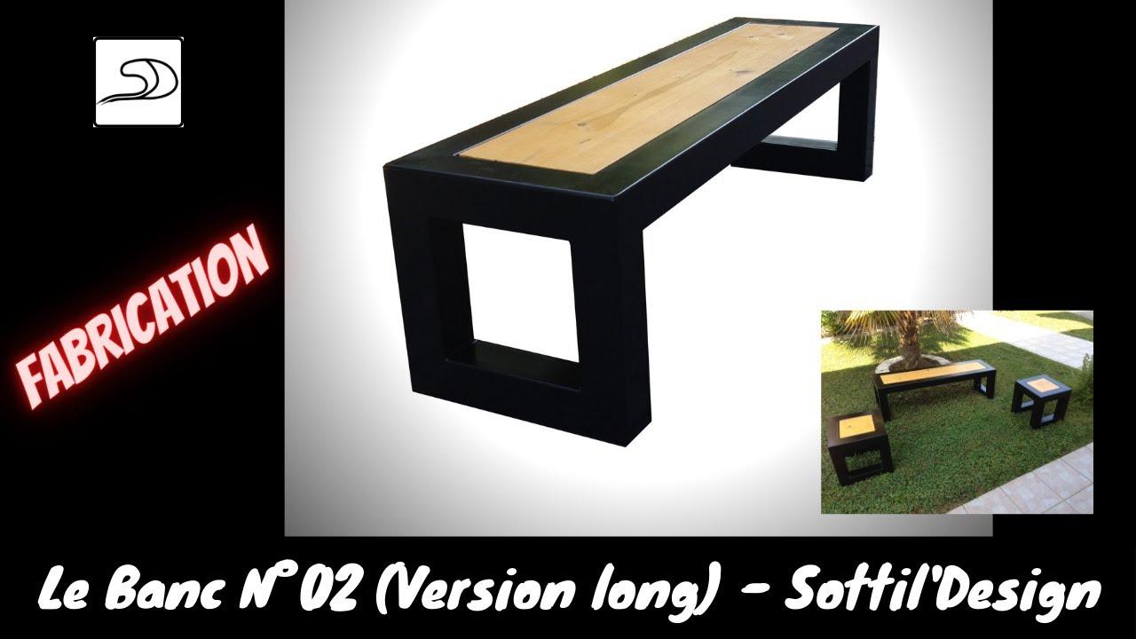 """Fabrication Banc En Bois fabrication banc métal et bois modèle n°2 (long) """"sottil'design"""""""
