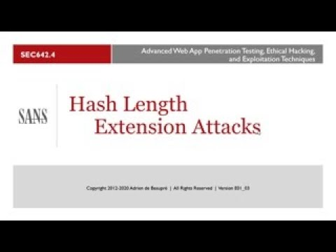 Modern Web Application Penetration Testing Part 2, Hash Length Extension Attacks