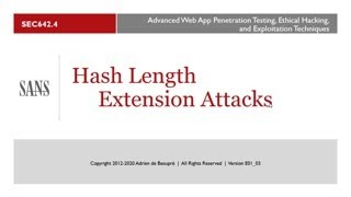 Modern Web Application Penetration Testing Part 2, Hash Length Extension Attacks