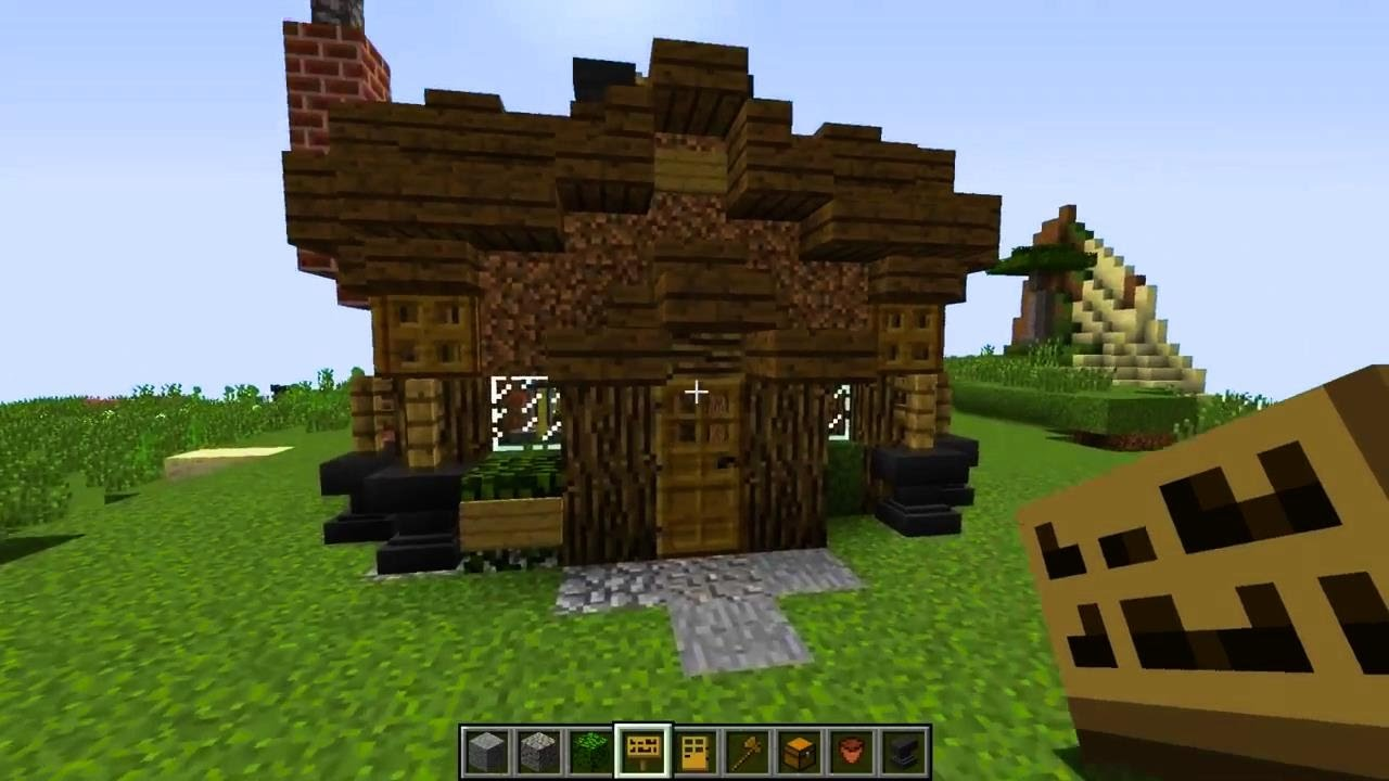 How To Build Upgraded Dirt Hut Minecraft Youtube