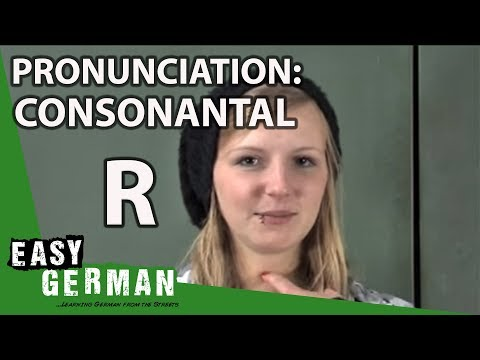 Visual Guide to German Pronunciation - Consonantal R