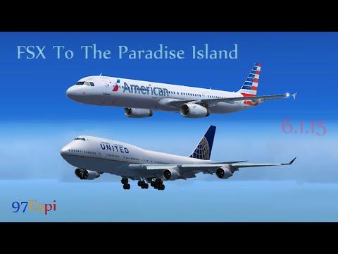 FSX Flight + ATC New Jersey to St. Maarten 06.01.15 American Airlines A321