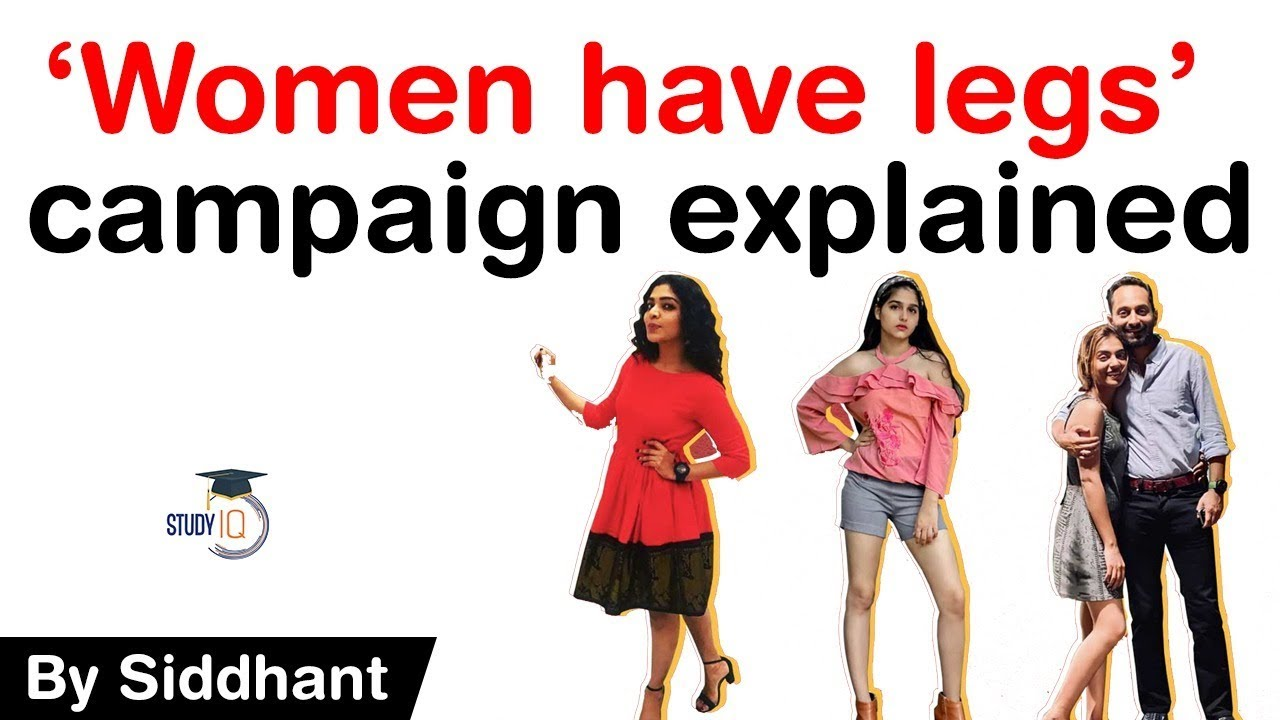 WOMEN HAVE LEGS campaign explained - Anaswara Rajan gets support from women across India #UPSC #IAS
